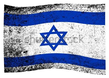 Bandeira Israel azul branco grunge efeito Foto stock © Bigalbaloo