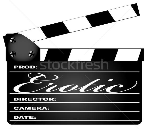 Erotic Clapperboard Stock photo © Bigalbaloo