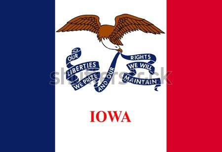 Айова флаг США искусства рисунок Сток-фото © Bigalbaloo