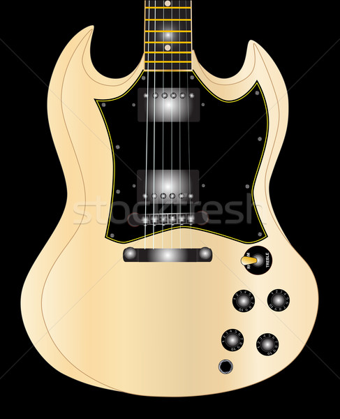 Horned Guitar Stock photo © Bigalbaloo