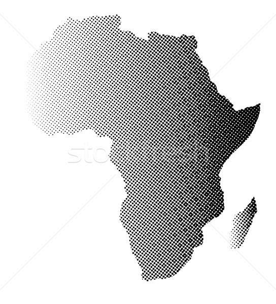 Африка полутоновой карта белый черный Сток-фото © Bigalbaloo