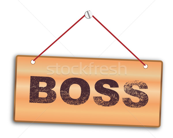 Boss Sign Stock photo © Bigalbaloo