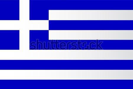 The Greek Flag Stock photo © Bigalbaloo