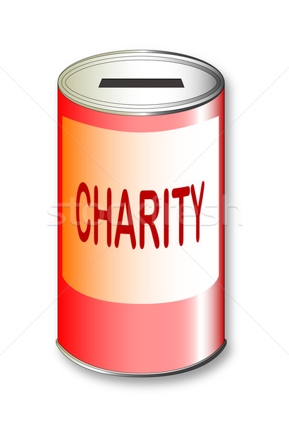 Round Charity Tin Stock photo © Bigalbaloo