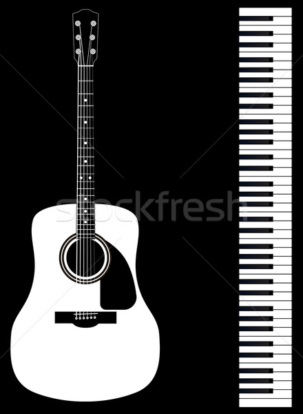 Guitar Piano Duo Stock photo © Bigalbaloo