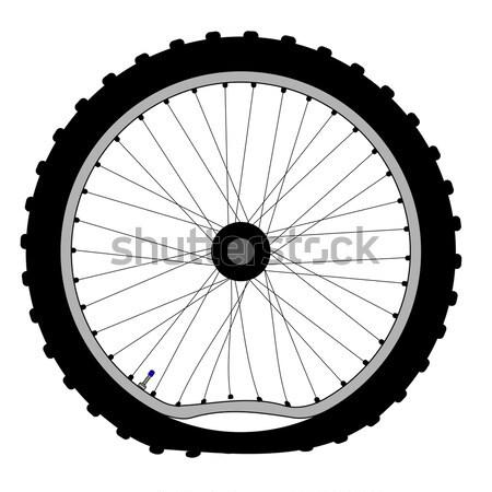 колесо велосипедов велосипед шин дороги Сток-фото © Bigalbaloo