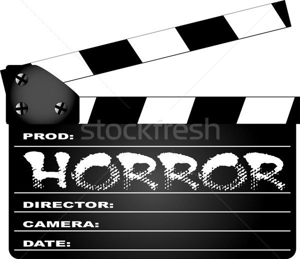 Horror Clapperboard Stock photo © Bigalbaloo