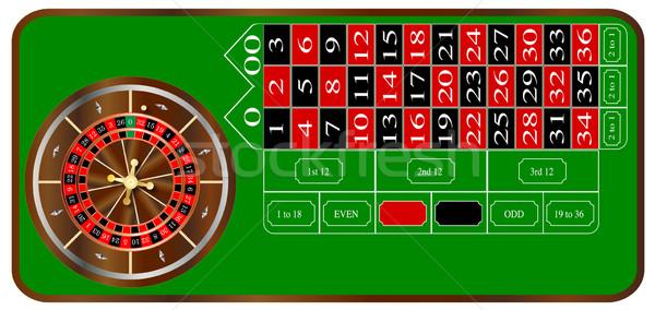 Roulette tipico americano tavola layout bianco Foto d'archivio © Bigalbaloo