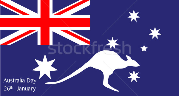 Australia Day Kangaroo Stock photo © Bigalbaloo