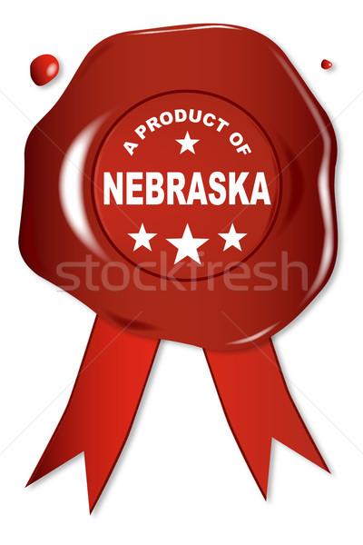 Termék Nebraska viasz fóka szöveg piros Stock fotó © Bigalbaloo