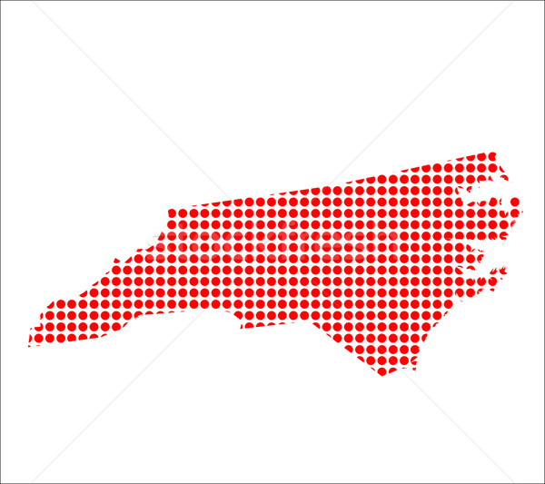 Red Dot Map of North Carolina Stock photo © Bigalbaloo