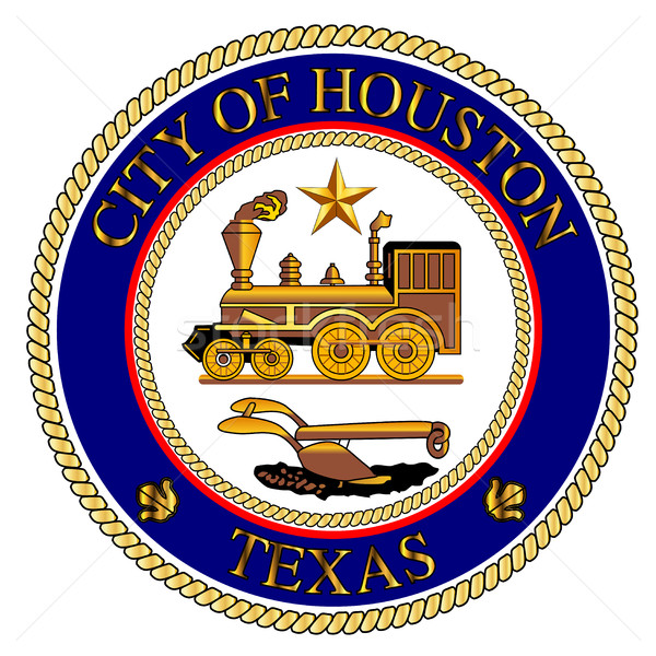 Houston şehir mühürlemek arka plan çizim Teksas Stok fotoğraf © Bigalbaloo