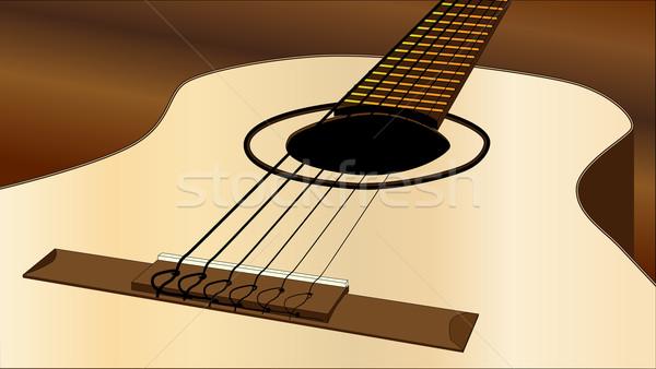 Flamenko gitar üst stil akustik gitar ülke Stok fotoğraf © Bigalbaloo