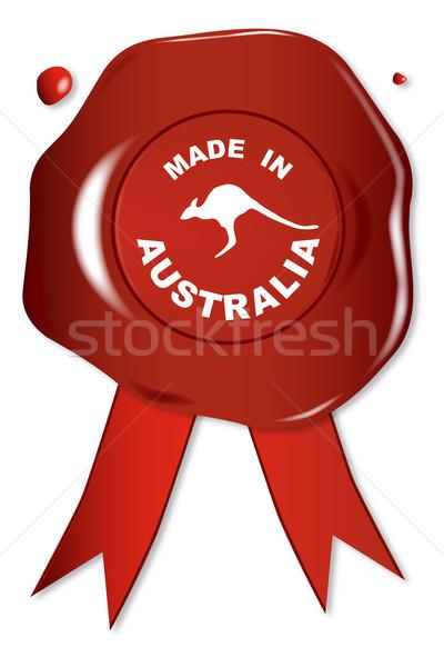 Made In Australia Stock photo © Bigalbaloo