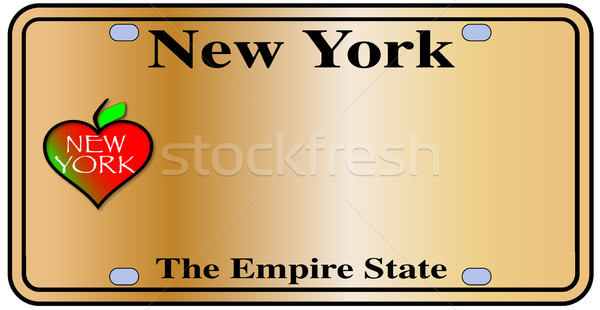 New York Empire State Plate Stock photo © Bigalbaloo