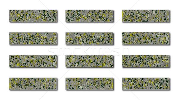 Stone Style Web Icons Blanks Stock photo © Bigalbaloo