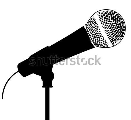 Rock Stage Microphone Stock photo © Bigalbaloo