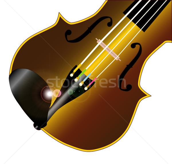 скрипка типичный изолированный белый музыку Сток-фото © Bigalbaloo