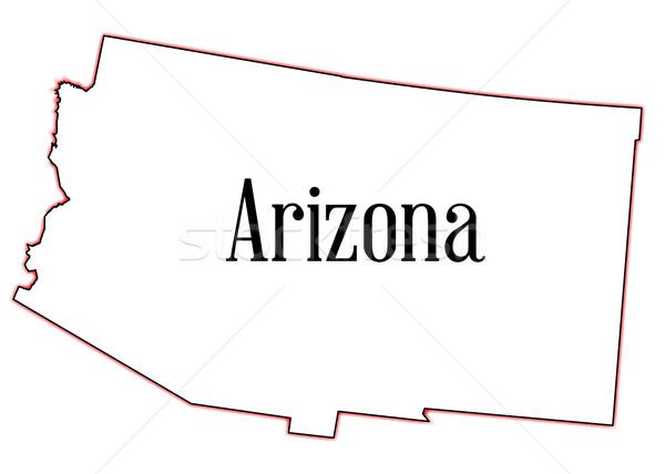 アリゾナ州 地図 白 グラフィック 米国 ストックフォト © Bigalbaloo