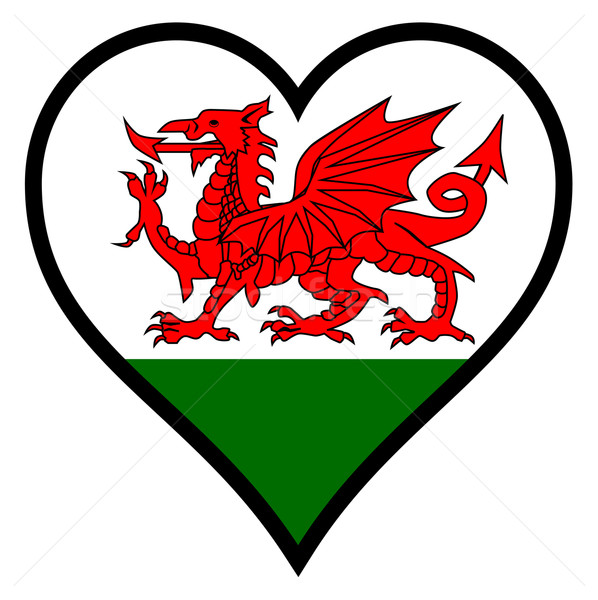 Love Wales Stock photo © Bigalbaloo