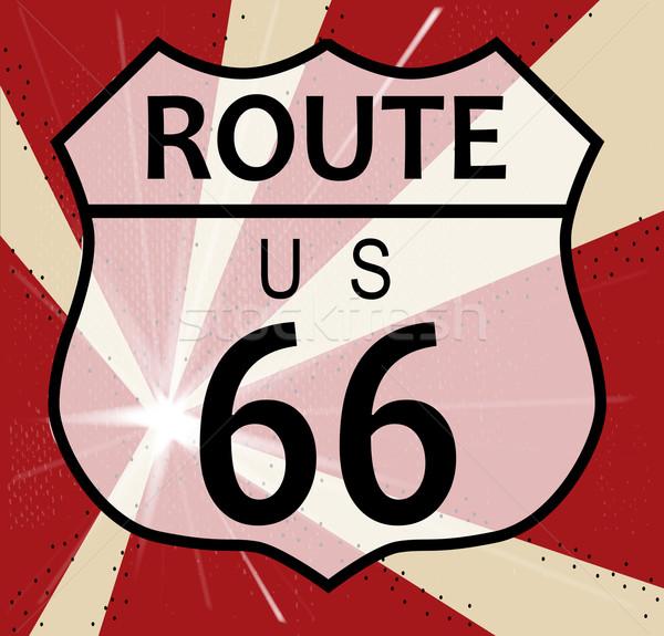 Route 66 Splash Stock photo © Bigalbaloo