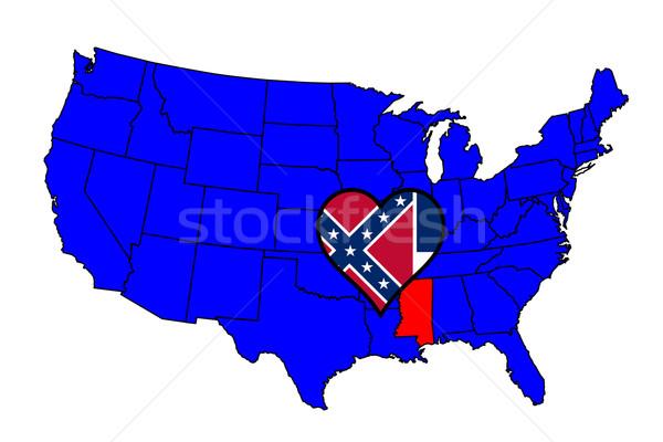 Stockfoto: Delaware · schets · icon · ingesteld · kaart · Verenigde · Staten