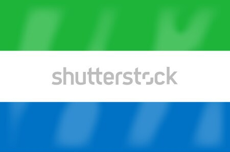 Sierra Leone Flag Stock photo © Bigalbaloo