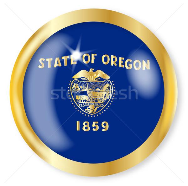 Oregon Flag Button Stock photo © Bigalbaloo