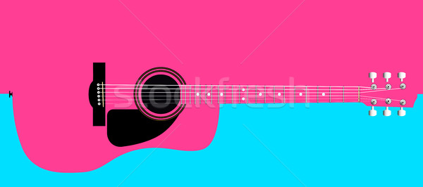 Pink Acoustic Guitar Background Stock photo © Bigalbaloo