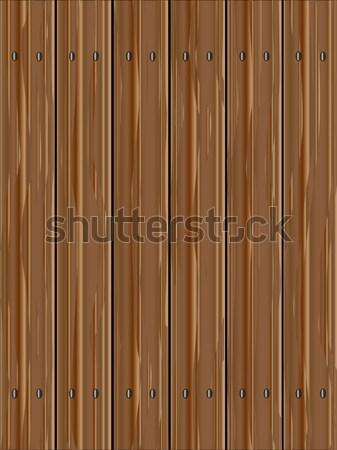 Buio rosolare recinzione venatura del legno Foto d'archivio © Bigalbaloo