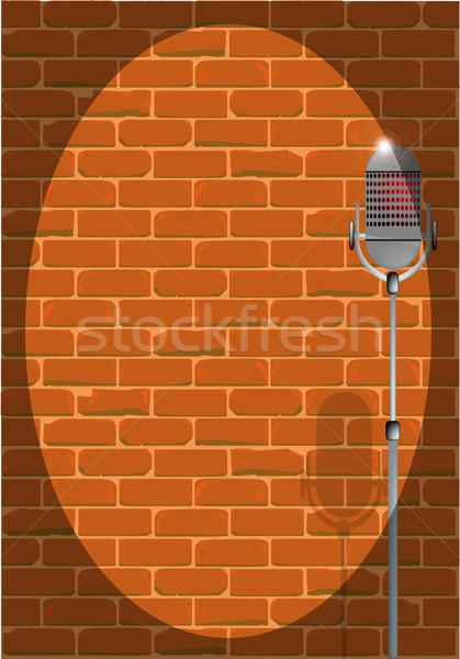 Spotlit Microphone Stock photo © Bigalbaloo