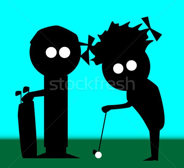 Golf Couple Stock photo © Bigalbaloo