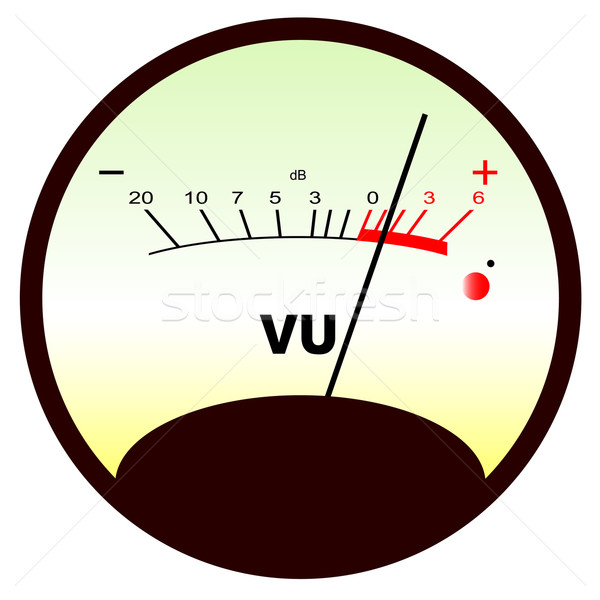 Round VU Meter Stock photo © Bigalbaloo