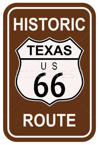 Texas Historic Route 66 Stock photo © Bigalbaloo
