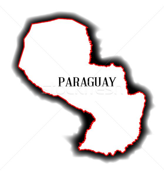 Paragwaj Pokaż kraju rysunek Zdjęcia stock © Bigalbaloo