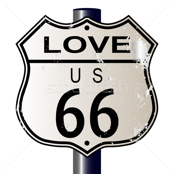 Love Route 66 Sign Stock photo © Bigalbaloo