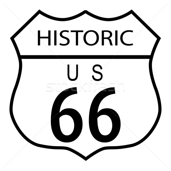 Route 66 Historic Stock photo © Bigalbaloo