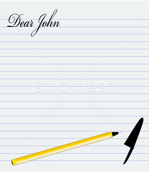 Dear John Stock photo © Bigalbaloo