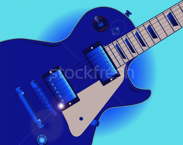 ブルース ギター エレキギター 青 音楽 ストックフォト © Bigalbaloo