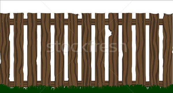 Wooden Fence Stock photo © Bigalbaloo