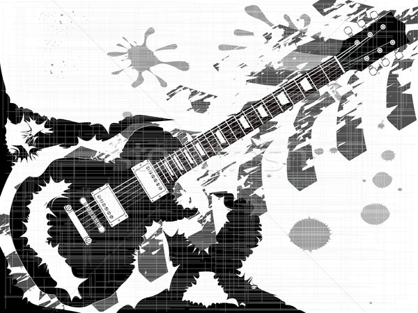 Splatter Guitar Stock photo © Bigalbaloo