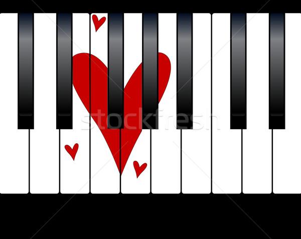 Love Piano Stock photo © Bigalbaloo