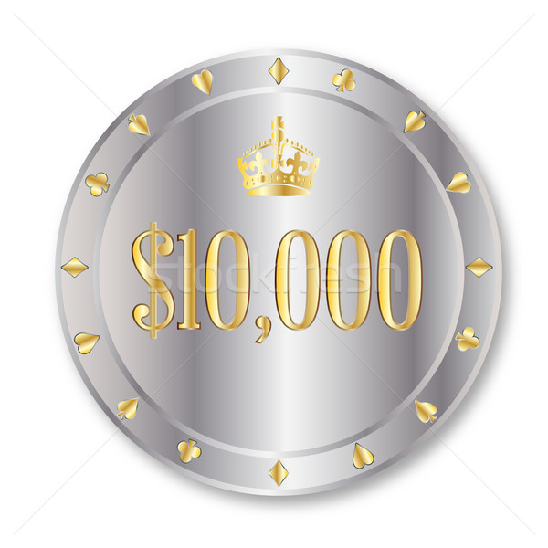 доллара чипа платина десять тысяча игорный Сток-фото © Bigalbaloo