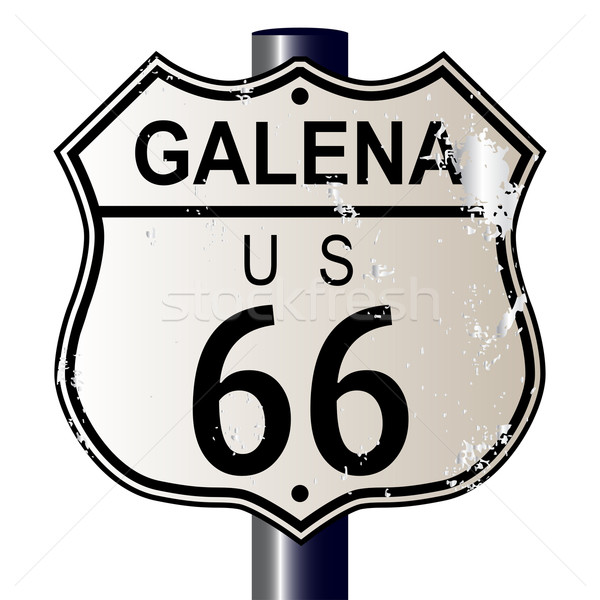 Route 66 assinar sinaleiro branco lenda rota Foto stock © Bigalbaloo