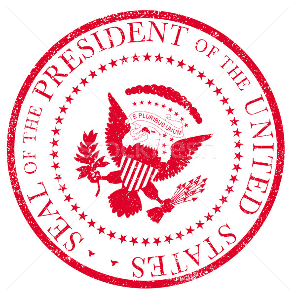Stock photo: Presedent Seal Ruber Stamp