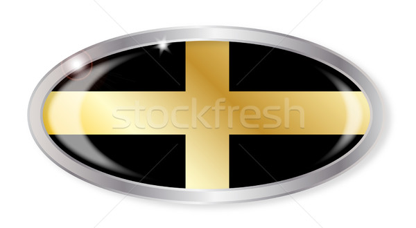 Welsh Saint Davids Flag Oval Button Stock photo © Bigalbaloo