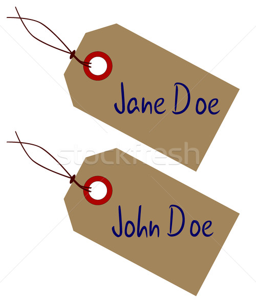 Jane And John Doe Tags Stock photo © Bigalbaloo