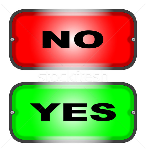 Yes No Stock photo © Bigalbaloo