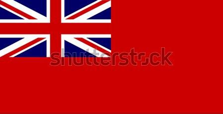 Kırmızı İngiliz bayrağı bayrak beyaz çizim sendika Stok fotoğraf © Bigalbaloo