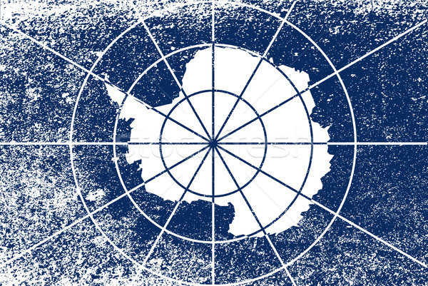 Flag of Antarctica Grunge Stock photo © Bigalbaloo